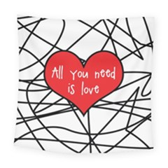 Love Abstract Heart Romance Shape Square Tapestry (large) by Nexatart