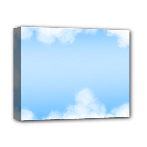 Sky Cloud Blue Texture Deluxe Canvas 14  X 11