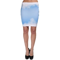 Sky Cloud Blue Texture Bodycon Skirt