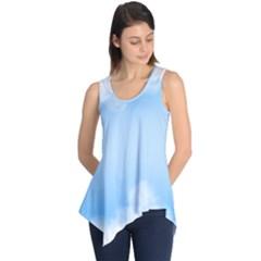 Sky Cloud Blue Texture Sleeveless Tunic