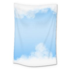 Sky Cloud Blue Texture Large Tapestry