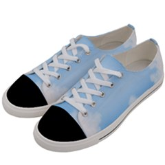 Sky Cloud Blue Texture Women s Low Top Canvas Sneakers by Nexatart