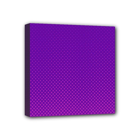 Halftone Background Pattern Purple Mini Canvas 4  X 4