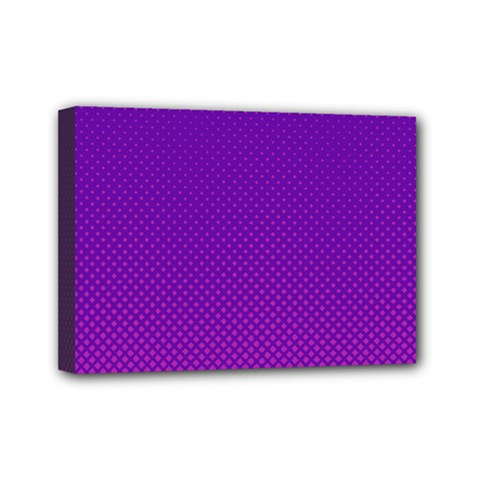 Halftone Background Pattern Purple Mini Canvas 7  X 5