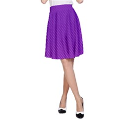 Halftone Background Pattern Purple A Line Skirt