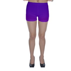 Halftone Background Pattern Purple Skinny Shorts