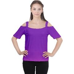 Halftone Background Pattern Purple Cutout Shoulder Tee