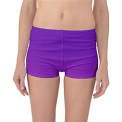 Halftone Background Pattern Purple Reversible Boyleg Bikini Bottoms