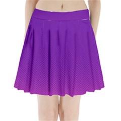 Halftone Background Pattern Purple Pleated Mini Skirt