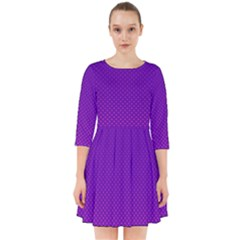 Halftone Background Pattern Purple Smock Dress