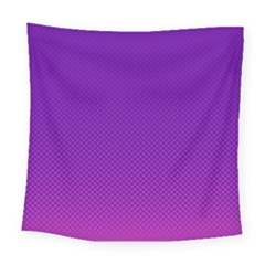 Halftone Background Pattern Purple Square Tapestry (large)