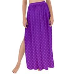 Halftone Background Pattern Purple Maxi Chiffon Tie Up Sarong