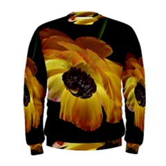 Ranunculus Yellow Orange Blossom Men s Sweatshirt