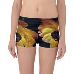 Ranunculus Yellow Orange Blossom Reversible Boyleg Bikini Bottoms