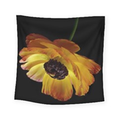 Ranunculus Yellow Orange Blossom Square Tapestry (small)