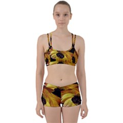 Ranunculus Yellow Orange Blossom Women s Sports Set