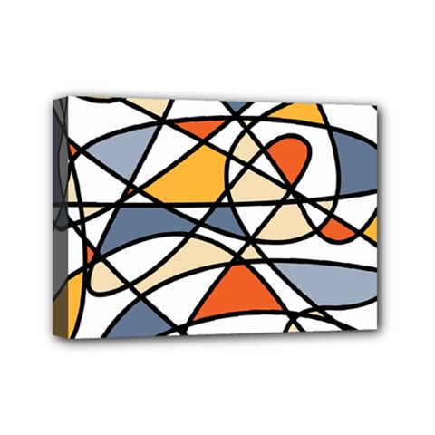 Abstract Background Abstract Mini Canvas 7  X 5