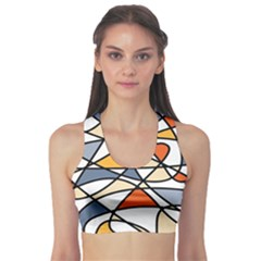 Abstract Background Abstract Sports Bra