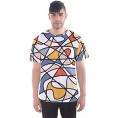 Abstract Background Abstract Men s Sports Mesh Tee