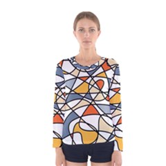 Abstract Background Abstract Women s Long Sleeve Tee