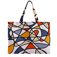 Abstract Background Abstract Zipper Mini Tote Bag by Nexatart