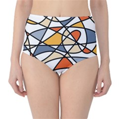 Abstract Background Abstract High Waist Bikini Bottoms