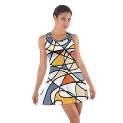 Abstract Background Abstract Cotton Racerback Dress