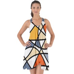 Abstract Background Abstract Show Some Back Chiffon Dress by Nexatart