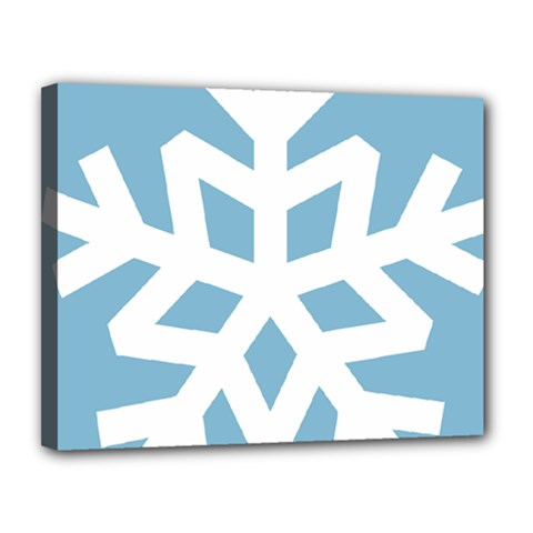 Snowflake Snow Flake White Winter Canvas 14  X 11  by Nexatart