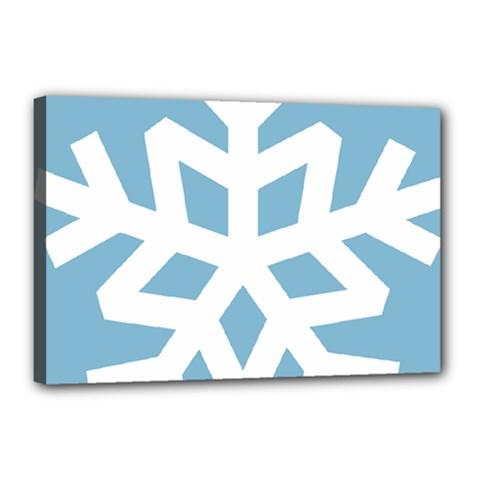 Snowflake Snow Flake White Winter Canvas 18  X 12