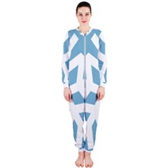 Snowflake Snow Flake White Winter Onepiece Jumpsuit (ladies)