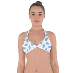Snowflake Snow Flake White Winter Halter Neck Bikini Top