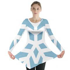 Snowflake Snow Flake White Winter Long Sleeve Tunic