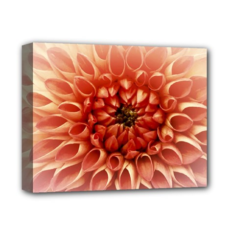Dahlia Flower Joy Nature Luck Deluxe Canvas 14  X 11