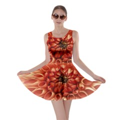 Dahlia Flower Joy Nature Luck Skater Dress
