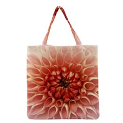 Dahlia Flower Joy Nature Luck Grocery Tote Bag