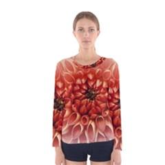 Dahlia Flower Joy Nature Luck Women s Long Sleeve Tee