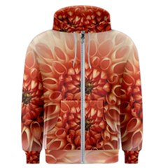 Dahlia Flower Joy Nature Luck Men s Zipper Hoodie