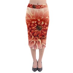 Dahlia Flower Joy Nature Luck Midi Pencil Skirt
