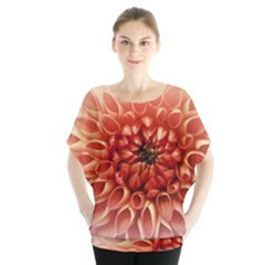 Dahlia Flower Joy Nature Luck Blouse