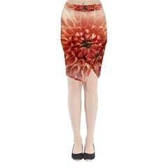 Dahlia Flower Joy Nature Luck Midi Wrap Pencil Skirt