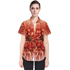 Dahlia Flower Joy Nature Luck Women s Short Sleeve Shirt