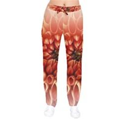 Dahlia Flower Joy Nature Luck Drawstring Pants by Nexatart