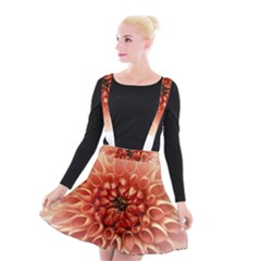 Dahlia Flower Joy Nature Luck Suspender Skater Skirt by Nexatart
