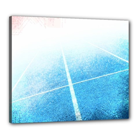 Court Sport Blue Red White Canvas 24  X 20