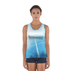 Court Sport Blue Red White Sport Tank Top
