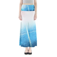 Court Sport Blue Red White Full Length Maxi Skirt