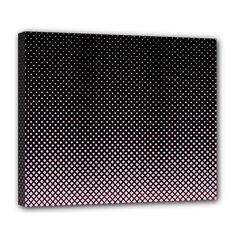 Halftone Background Pattern Black Deluxe Canvas 24  X 20