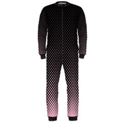 Halftone Background Pattern Black Onepiece Jumpsuit (men)