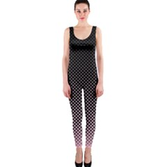Halftone Background Pattern Black Onepiece Catsuit